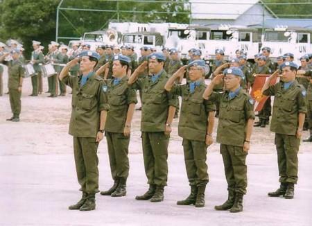 自衛隊 第一次カンボディアPKO 編成完結式