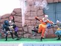 [仮面ライダー][キバ][ショー]轟く銃声「みんな右の階段を見て!」