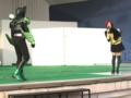 [仮面ライダー][オーズ][ショー]司会のお姉さんとガタキリバ
