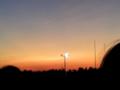 [風景]有明の朝日 20101229