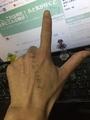 あっ。これは何だ! ふと気が付くと左手にこんな物が!